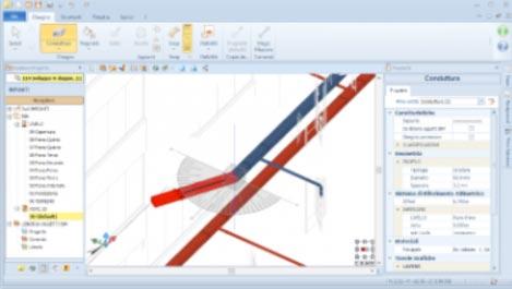 Tool di orientamento dell'impianto MEP realizzato con Edificius-MEP