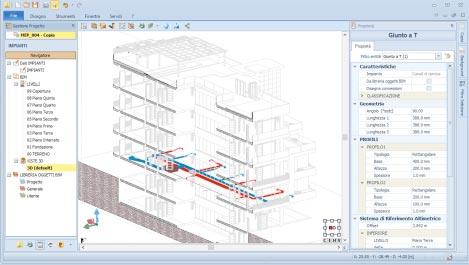 Visualizzazione architettonica e MEP di un modello BIM