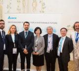 A Venezia Delta ha presentato i suoi sistemi per l'efficienza energetica, rivolti in particolare alle telecom, e il suo impegno per la sostenibilità.